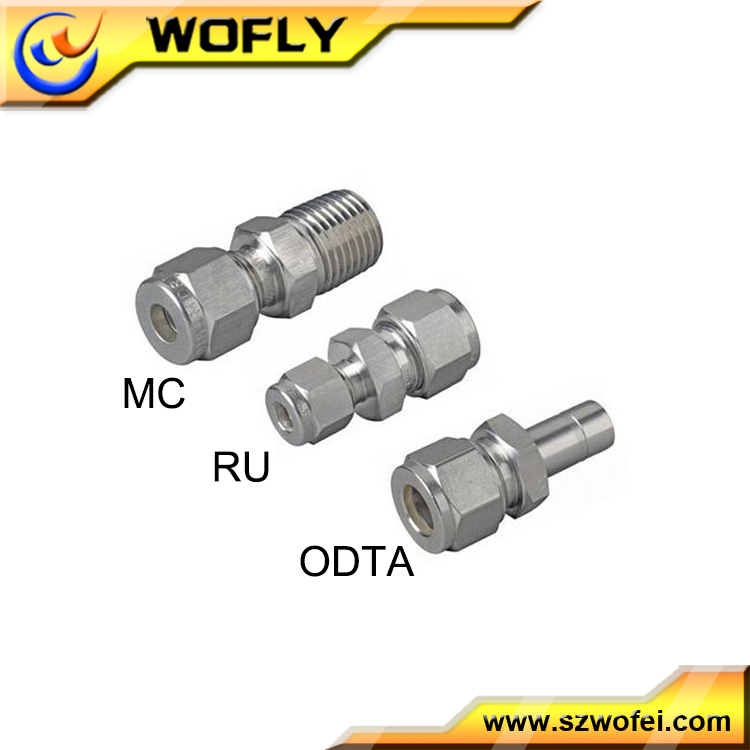 Straight Type Double ferrule gas stainless steel compression <strong>fittings</strong>