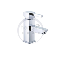 hot and cold water square basin mixer tap