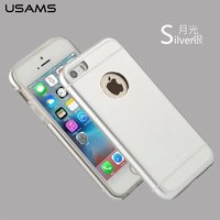 Luxury USAMS 2 in 1 Metal Protective Cover Soft TPU Back Case for iPhone SE