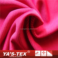 Fashion Red Polyester Jacquard 4 Way Stretch Recycled Textil Fabric For Dress Clothing