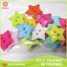 Cute Color Decoration 2 Hole Fancy Plastic Button For Children's Clothing
