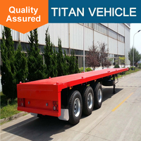Hot sale utility flatbed semi trailer with twisted lock