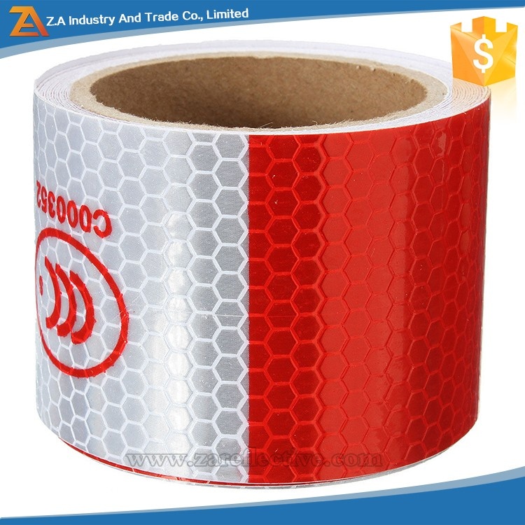 High Visibility 3M Quality Truck Reflector Tape Roll , Diamond Grade Retro-Reflective Tape Roll