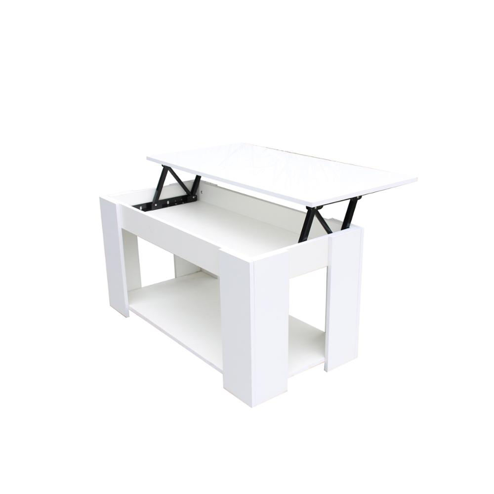 Modern MDF wood white lift up coffee table design