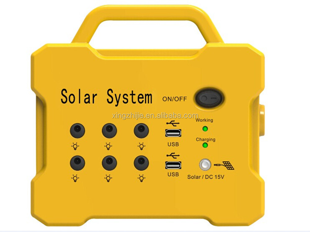 Portable solarsystem for house with radio usb charge function for African market