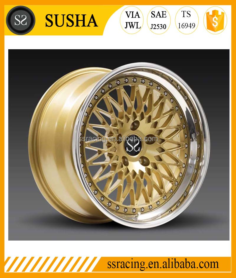 China 2017 High Quality Two piece Forged wheels for 5x120/5x112/5x130/5x114.3/5x139 Classic wheels