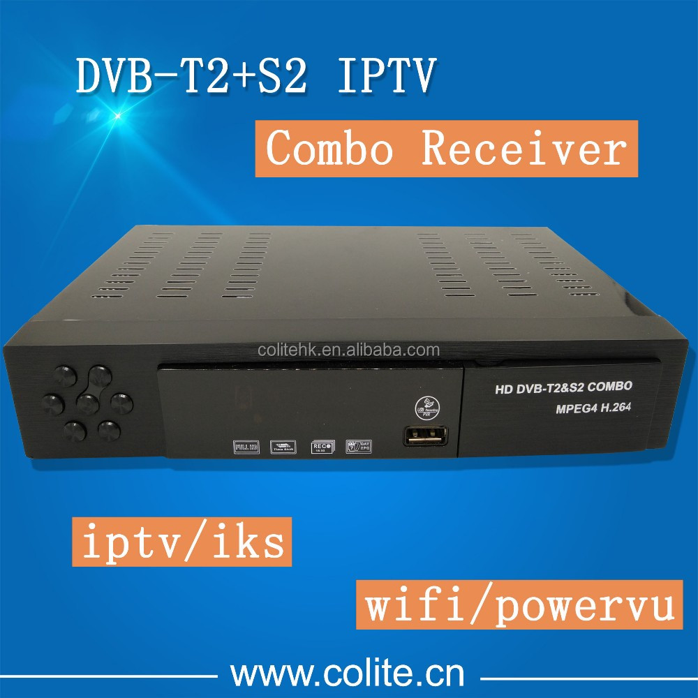 Receiver DVB-S2 DVB-T2 IKS WIFI 3G Powervu Auto Run