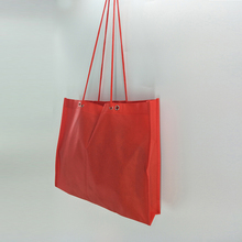 New design recycle rope handle non woven bag with eyelet