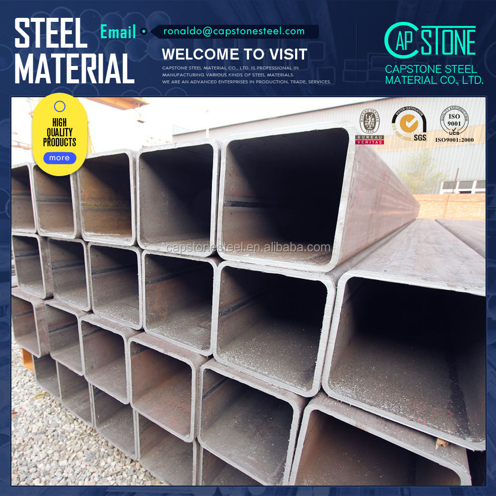 black mild steel hollow section for construction
