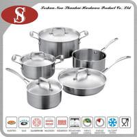 High quality steel happy baron cookware set