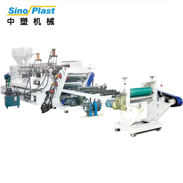 SINOPLAST 120KW Small Single Screw PP Plastic Sheet Extruder Extrusion Machine Machinery Line