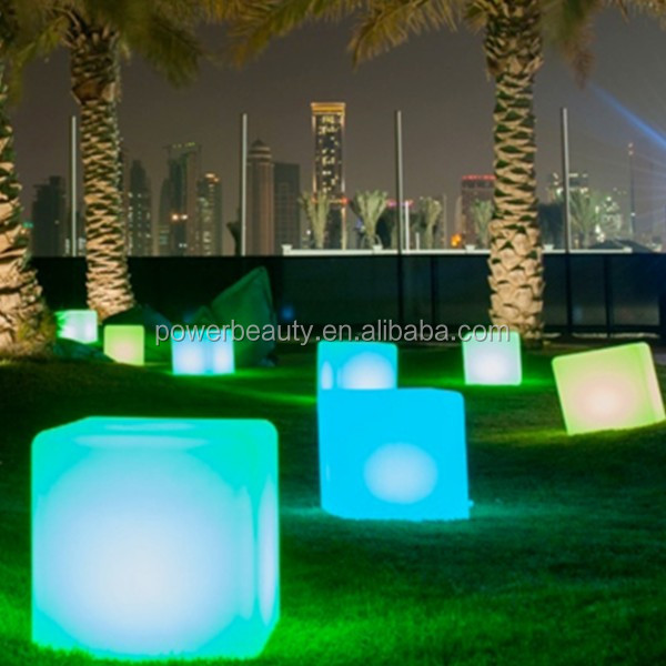 40cm PE plastic rechargeable led illuminated lighting 3d pictures cube