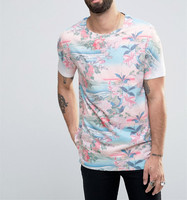 New Look Japanese Style Floral Print T-Shirt Digital Printing Fashionable