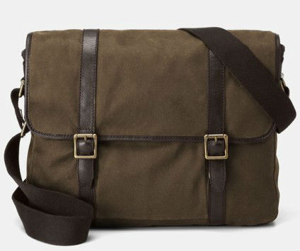 Waxed vintage canvas messenger bags