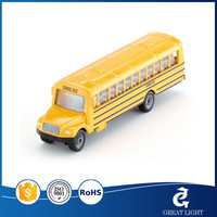 toys metal diecast car model 1:24 scale alloy material bus shape design with light and music