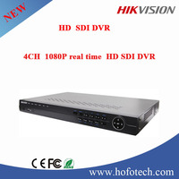 2015 new style top quality Hikvision 4CH 1080p real time hd sdi dvr with 2 sata HDD cctv dvr player