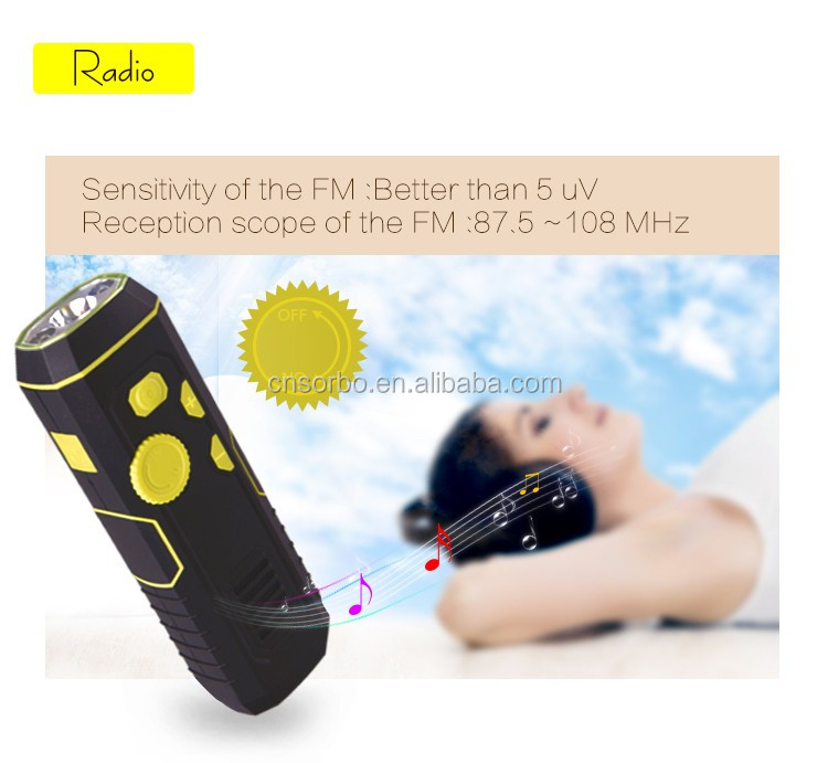 Super bright flashlight with energency mobile power bank