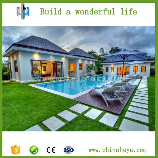 Newest modern prefabricated beach villa/home / luxury prefab house/container houses