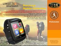 U18 MTK6572 Dual Core Android 4.4 Smart Wrist Watch Mobile Phone with 3G GSM Water capacitive Android