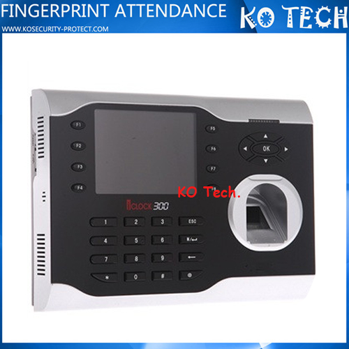 TCP/IP fingerprint time attendance machine with 3.5 inch TFT screen iclock 300