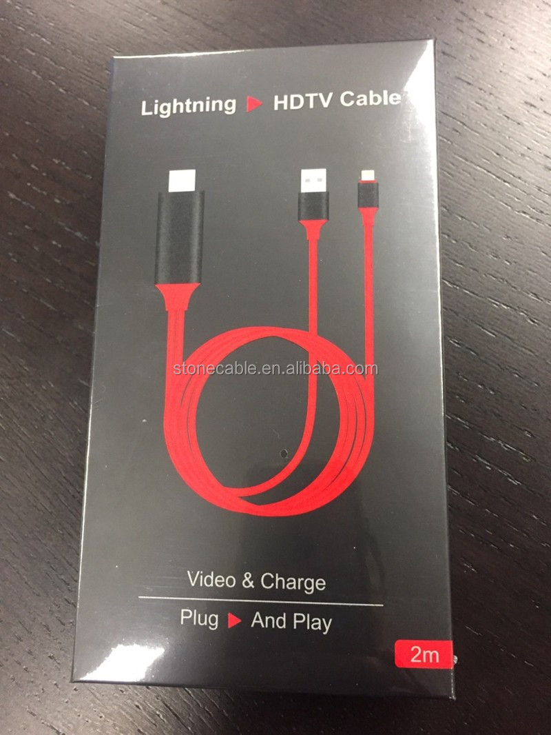 Plug and Play Lightning to Hdmi Cable No Need HOTSPOT Digital AV Adapter for iPhone/iPad/iPod models