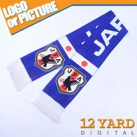 China supply Japanese National Soccer /Football match fans cheer polyester personality sport Scarf