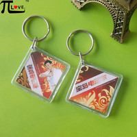 hot item advertising gifts square acrylic keyring with best quality