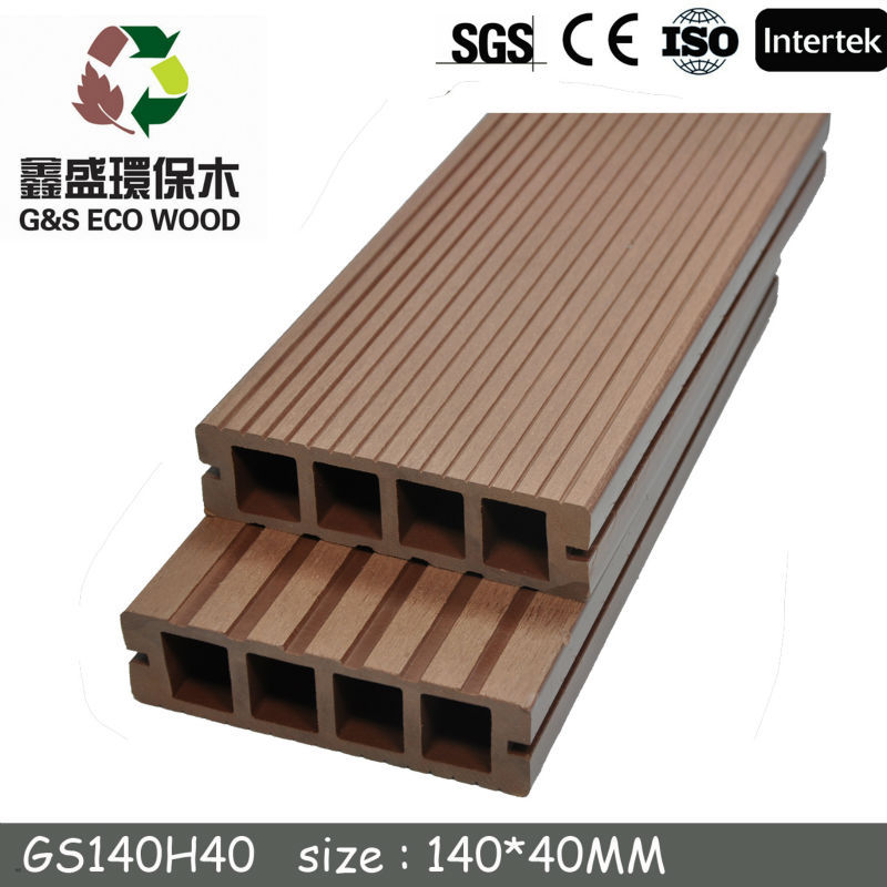 Outdoor Engineered Wood Plastic Composite Flooring/Hollow Outdoor WPC decking /Wood Power+PE