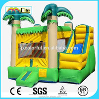 CILE 2015 Bright Yellow and Green Garden Toy Soft Inflatable Slip and Slide