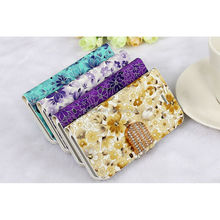 For Apple iPhone 5s Luxury Leather Case, Flower Wallet Case for iphone, Mix Color Accept