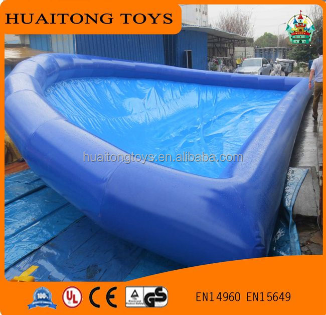 2016 New design blue swimming pool inflatable for sale, inflatable floating boat swimming pool