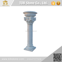 Hand carved light brown stone wholesale marble columns