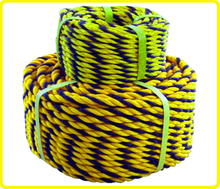 3-strand mark rope tiger rope , panda rope , twisted poly rope yellow