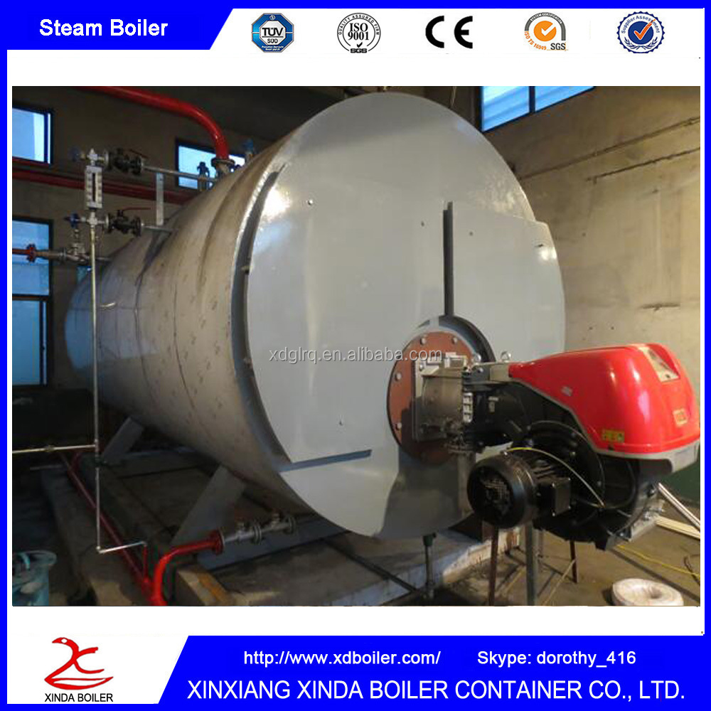 Horizontal Fire Tube Oil Gas Steam Boiler for Paper Industry Textile Fabric Garment Factory