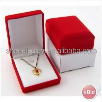 Necklace Jewellery Box Cardboard display box printing with LOGO and promotion information
