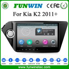 Quad core 1.6GHz Android 4.4 <strong>car</strong> <strong>DVD</strong> for Kia K2 built in RDS 1G+16G HD