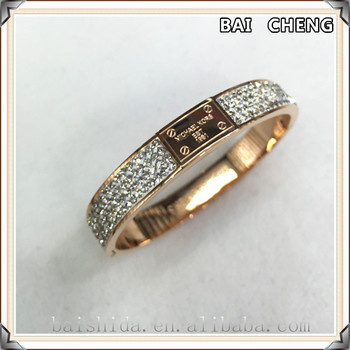 Fashion Crystal stainless steel bangle Famous bangle Brand bangle for unisex
