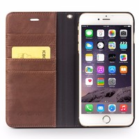 QIALINO Cases Wholesale Products, Ultra Thin For iPhone 6 Wallet Leather Case, Stand Cover For iPhone 6s plus