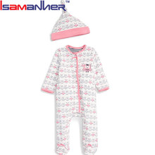 Free shipping baby clothes footie pajamas, winter baby romper onesie