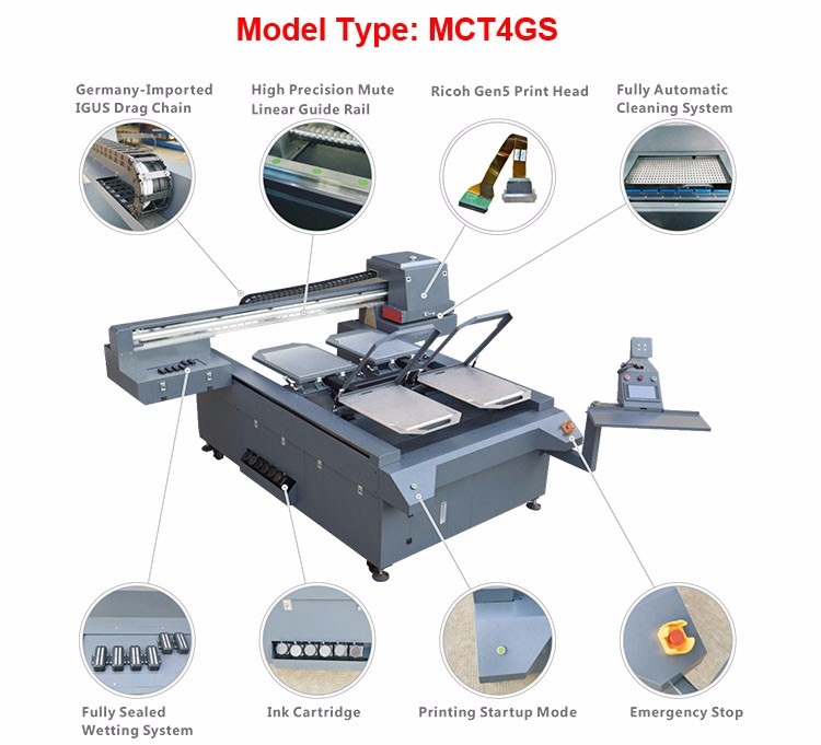 Factory direct sell new design digital uv t-shirt printing machine