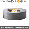 Free Standing outdoor round shape 304ss Grey gas fireplace