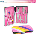 BMS0341R 7pcs Stainless Steel High Quality Fashion Grooming Case Travel Manicure Set