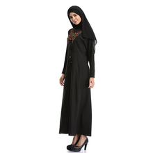 Muslim Arab women Micro Fiber Kint black beauty prayer clothing hijab abaya for sale 2w-9