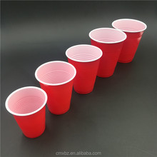 Disposable PS material 6oz 10oz 14oz 16oz plastic red party cup