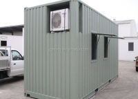 20ft shipping container with air conditioner systems and windows for mining office