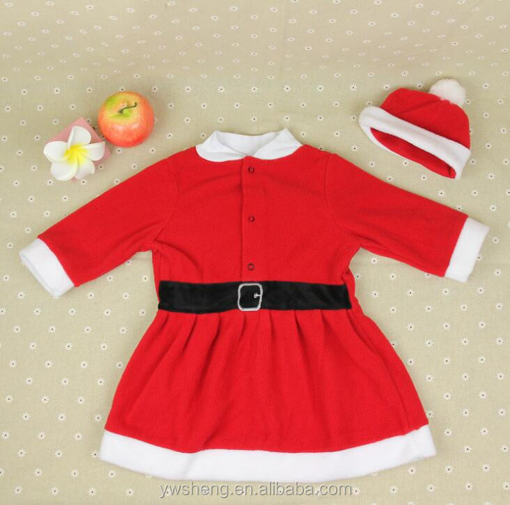Fashion girl christmas gift fancy red outfit dress with christmas hat