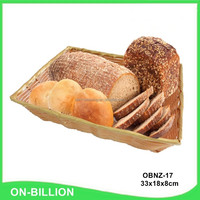 Rectangle heated plastic restaurant bread basket