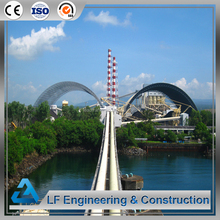 Factory price long span steel structure coal warehouse