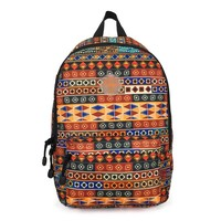Print fabric girl leisure backpack school bag