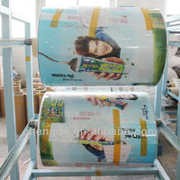 Customize printing and Nice printing appearance Apron plastic roll film